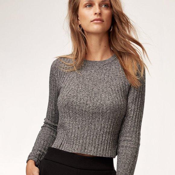 Babaton Grey Wool Sweater